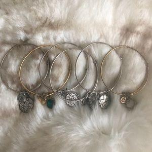 6 Alex and Ani Bracelets